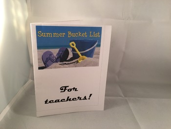 Teacher Bucket List Card PDF DIY