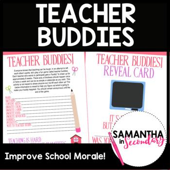 Teacher Buddies - Fun Morale Boosting Activity for Teachers!