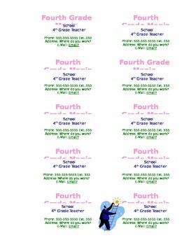 Teacher Business Cards