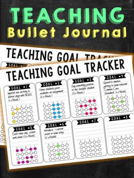 Teacher Bullet Journal Goal Tracker