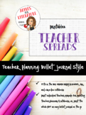Print & Plan Teacher Bullet Journal Spread Collection
