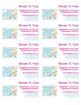 Teacher Business Cards Dr. Seuss theme