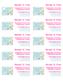 Teacher Business Cards Dr. Seuss theme