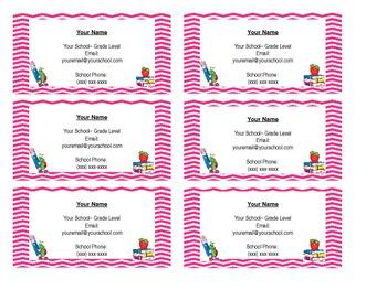 Teacher Business Cards **EDITABLE**