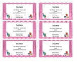 Teacher Business Cards **EDITABLE**