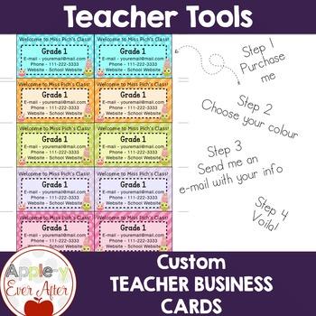 Teacher Business Cards - Keep Communication At their Fingertips!