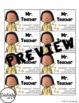 Teacher Business Cards - Mr. Teacher *EDITABLE*