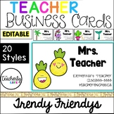 Teacher Business Cards - Trendy Friendys *EDITABLE*