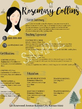 Teacher CV Resume with Avatar
