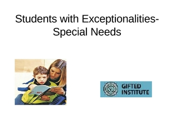 Teacher Cadets: Exceptional Students Powerpoint with Project