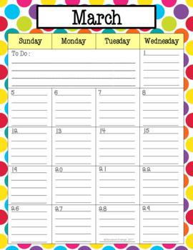 Teacher Calendar 2018-2019