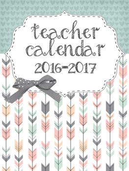 Teacher Calendar 2016-2017