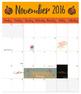 Teacher Calendar 2016-2017 *Poster size*