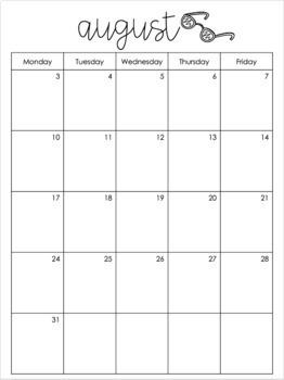Teacher Calendar 2019-2020