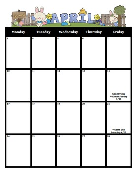 Calendar 2016-2017 (M-F Includes holidays and special dates)