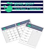 Teacher Calendar - Navy/Teal Whale Pattern