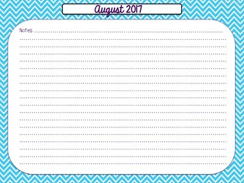 Teacher Calendar {Ocean Themed}