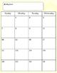 Teacher Calendar / Planner - 12 Months - 2016