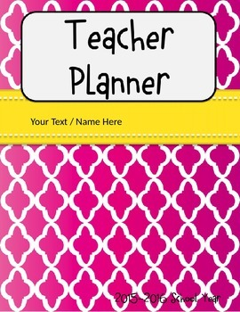 Teacher Calendar / Planner (editable)