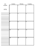 Teacher Calendar/Planner for July 2018