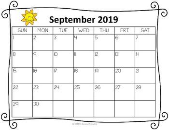 Teacher Calendar Set- *Updated for 2017-2018 School Year
