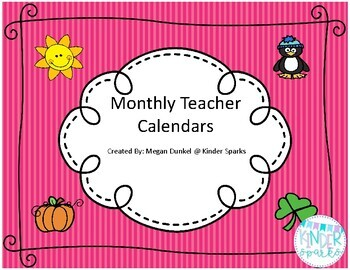 Teacher Calendar Set 2018-2019