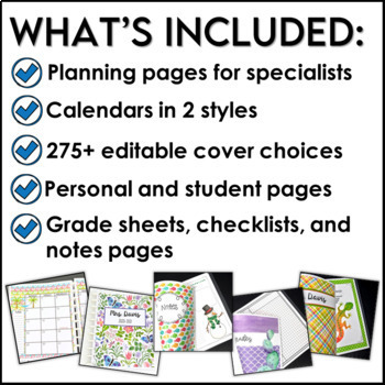 Teacher Planner with a Science Theme