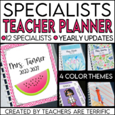 Teacher Planner for Specialists