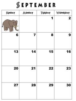 Teacher Calendar Without Lines