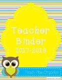 Teacher Calendar and Binder Resource - Bright Stripes