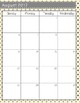 Teacher Calendar and Binder Resource - Grey Polka Dots