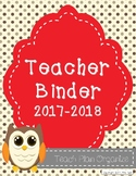 Teacher Calendar and Binder Resource - Grey and Red Polka Dots