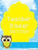 Teacher Calendar and Binder Resource - Sunny Clouds