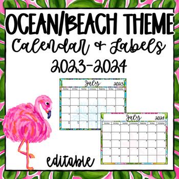 Teacher Calendar ~ Editable