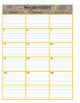 Teacher Calendar; classroom organization