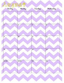 Teacher Calendar/Binder 2015-2016
