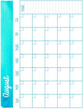 Teacher Calendars (blank)
