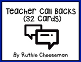 Teacher Call Backs