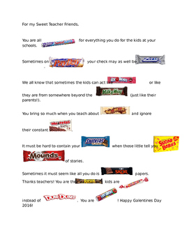 Teacher Candy Poem