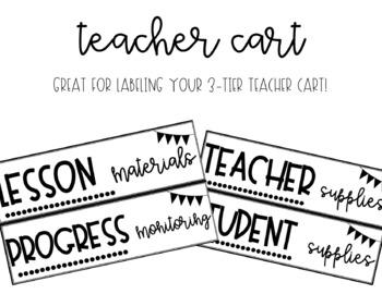 Teacher Cart Labels By Shaw In The Classroom Teachers Pay Teachers