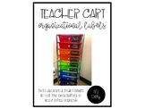 Teacher Cart Organizational Labels