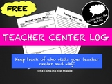 Teacher Center Log