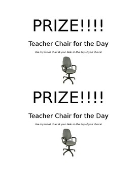 Teacher Chair Reward