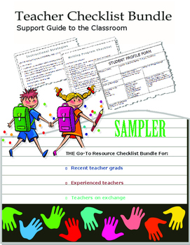 Teacher Checklist Bundle - Support Guide for the Classroom