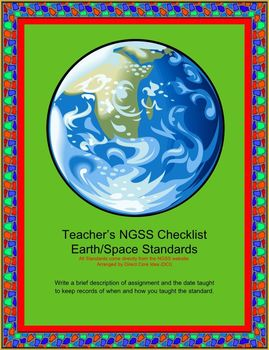 Teacher NGSS Checklist: Middle School Earth/Space Science