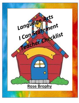 Teacher Checklist Grade 1 Language