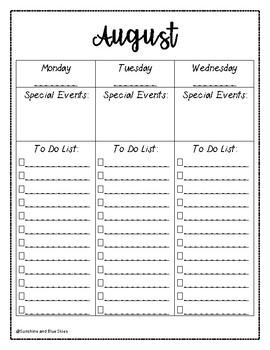 Teacher Checklist Planner