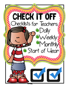 Teacher Checklists