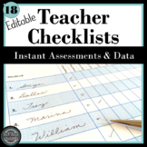 Formative Assessment Checklists: Editable!
