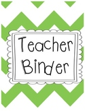 Teacher Chevron Organization Binder